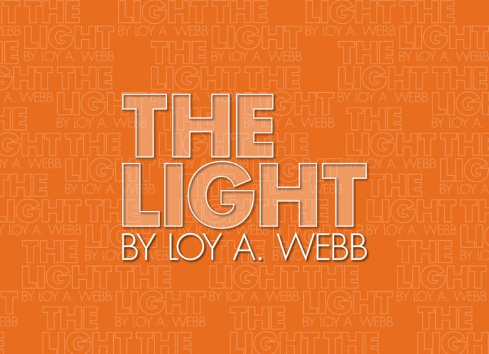 THE LIGHT title on an orange background.